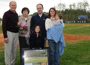 The Egnew family was honored at the Egnew Park dedication on Tuesday.