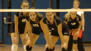 Volleyball lost in three sets, 25-13, 25-12, 25-13 to Georgetown (Ky.) College on Wednesday. <i>File photo.</i>