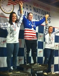 Cycling placed first, second and third in the women's four cross at the USA Cycling National Championships.