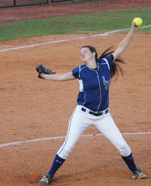 Morgan Paschall earned the win in game two for softball against Georgetown.