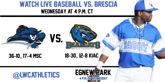 Live video and live stats available of Wednesday's game against Brescia at Egnew Park.