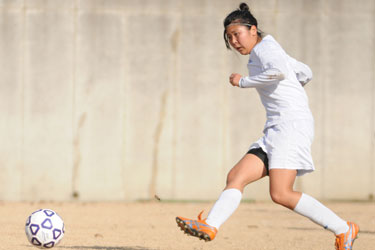 Freshman Ayaki Shinada scored the first two goals of the game against Roberts Wesleyan.