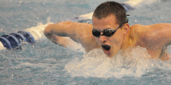 Connor Lyle finished first in the 200-yard butterfly on Friday against Cumberlands.