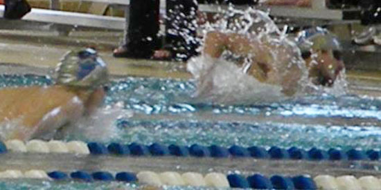 Logan Wetzel earned a win in the 200-yard freestyle in Saturday's tri-meet.
