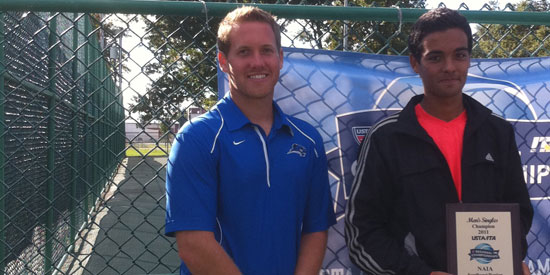 Fernando Bogajo, right, won a singles' title over the weekend.