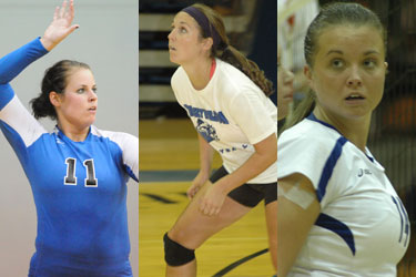 Andrea Taylor, left, Rachael Anderson, center, and Taylor Hayne earn MSC weekly awards.