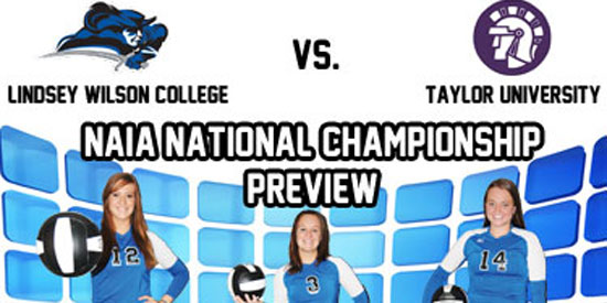 Volleyball opens NAIA Championship play at 5:30 p.m. CT on Saturday at Taylor (Ind.) University.