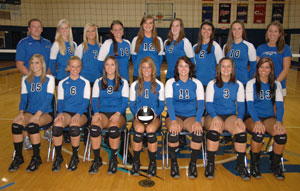 Nine Blue Raiders earn postseason awards at annual volleyball banquet.
