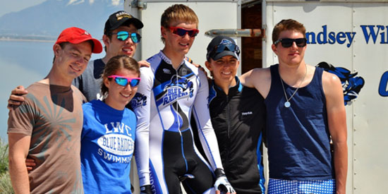 Members of the Lindsey Wilson road team at nationals.