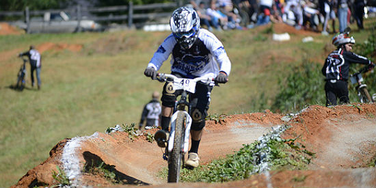 Patton races in the 2012 LWC Mountain Bike event