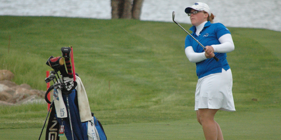Kaitlin Allan finished her second round strong, eagling 18 to lead Lindsey Wilson.
