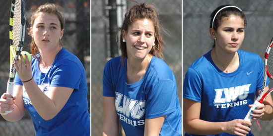 Slavica Milanovic, Laura Vergara and Alejandra Galvis earned NAIA All-American honors