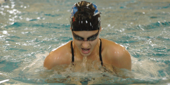 Kate Spaulding finished 11th overall in the 100-breaststroke on Friday night.