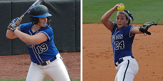 Amanda Trampe (left) earned First Team honors while Jordan Hood was named to the Second Team