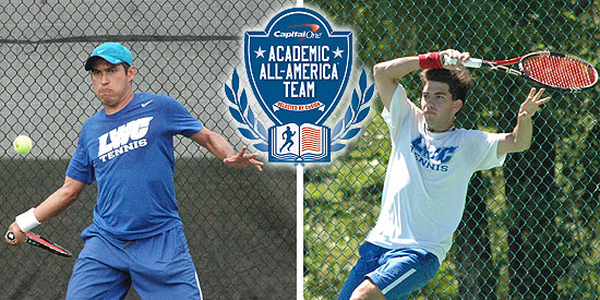 Fabricio Morales (left) and Pablo Vilches were named to the Capital One Academic All-District 2 At-Large Team