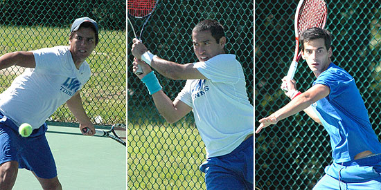 Edberg Espinoza, Fabricio Morales and Francisco Charters earned NAIA All-America honors