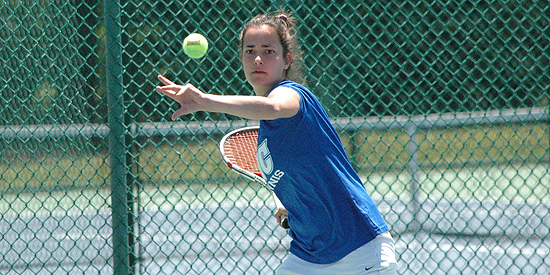 Ana Helena Pinto captured the lone Blue Raider point on the day