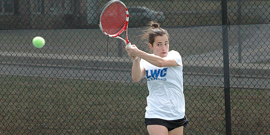 Ana Helena Pinto was the lone Blue Raider to win her singles and doubles matches