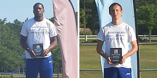 Carmetrick Ross (left) and Ben Graham earned All-America honors at the NAIA National Championships
