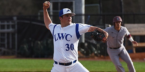 Matt Lashlee pitched a complete game allowing just two earned runs in the opening game win.