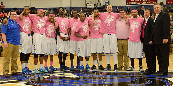 Nine Blue Raider senior student-athletes and two student assistants were honored prior to the game.