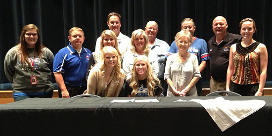 Heidi Hufman is joined by friends, family and coaches as she signs with Lindsey Wilson