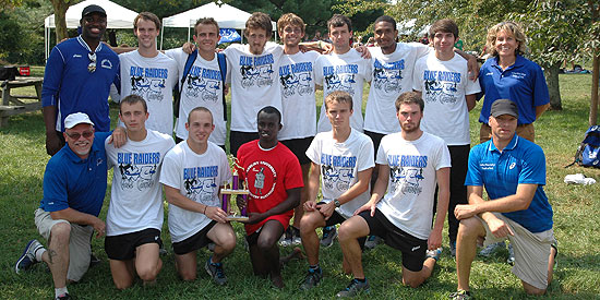 The men's cross country team finished second at the Asbury Invitational