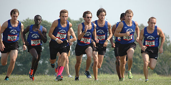 The men's cross country team finished second at the Shawnee State Invitational