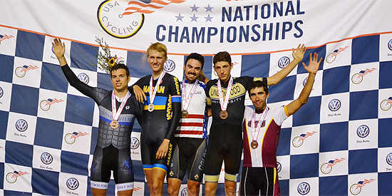 David Novak (left) finished in fourth place in the individual pursuit race. (Photo by Hannah Hayduk)