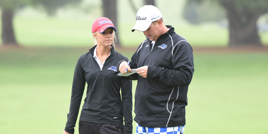 Shayna Cockrill (left) finished tied for fifth at the Blue Raider Classic