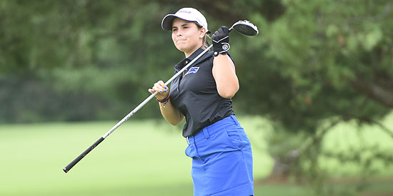 Cristina Jimenez is tied for ninth place after shooting an opening-round 83