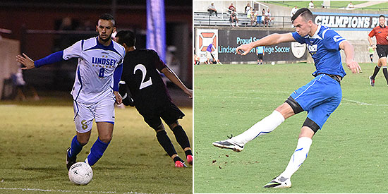 Renan Serafim (left) and Tom Moody were both honorable mention selections for the 2014 NAIA Men's Soccer All-America Teams