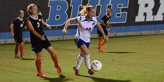 Gwendoline Fai scored the only goal tonight to lead the Blue Raiders.