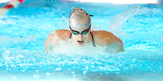 Laura Stephenson earned All MSC honors in the 100 yard butterfly after winning the event