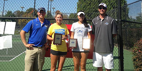 Jessica King (second from left) and Alicia Rodriguez (third from left) captured ITA regional titles today
