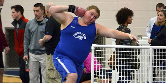 Josh Kles finished second in the shot put while recording a national standard