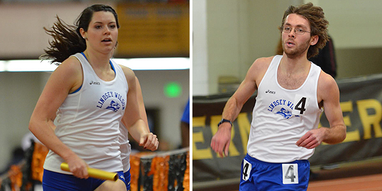Sara Canada (left) and Ben Hoffman both recorded team points on their 4x800 meter relay teams