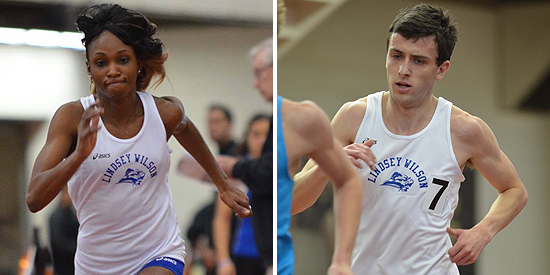 Janice Brown (left) and John-Paul Williamson both earned NAIA All-American honors on Saturday