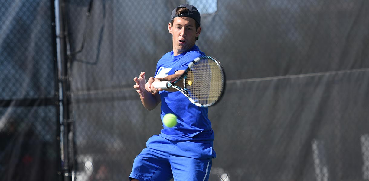 Photo for Men�s Tennis Singles and Doubles advances in Oracle Cup