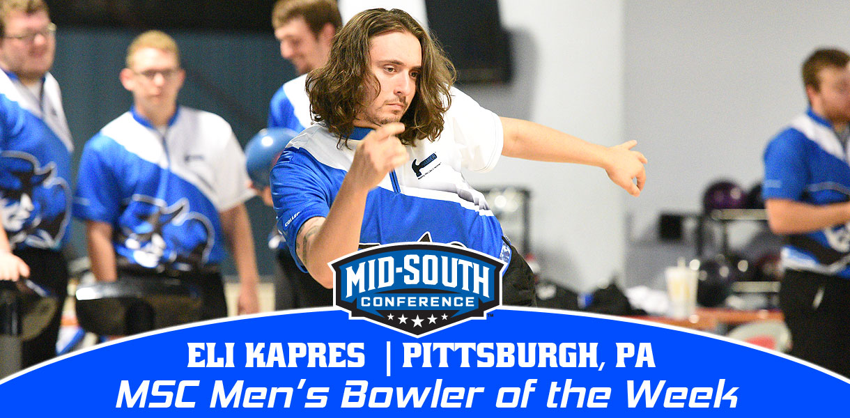Photo for Kapres collects MSC Men's Bowler of the Week honors