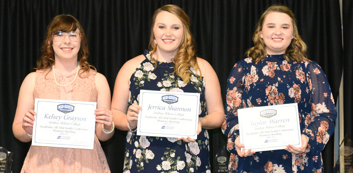 Photo for Women's Bowling quartet earns Academic All-MSC honors