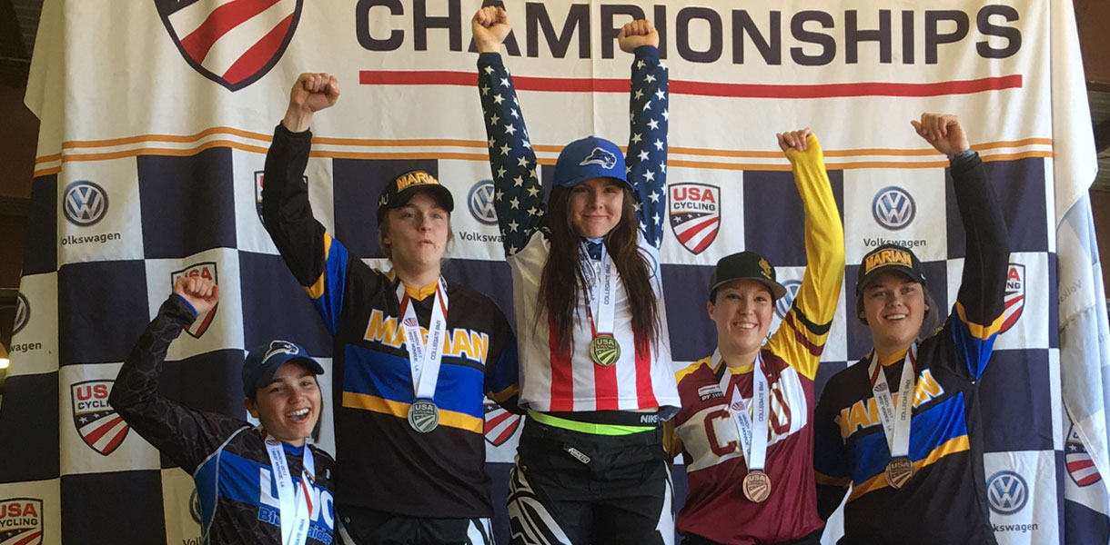 Photo for Bice repeats as women's BMX national champion, Cycling finishes second