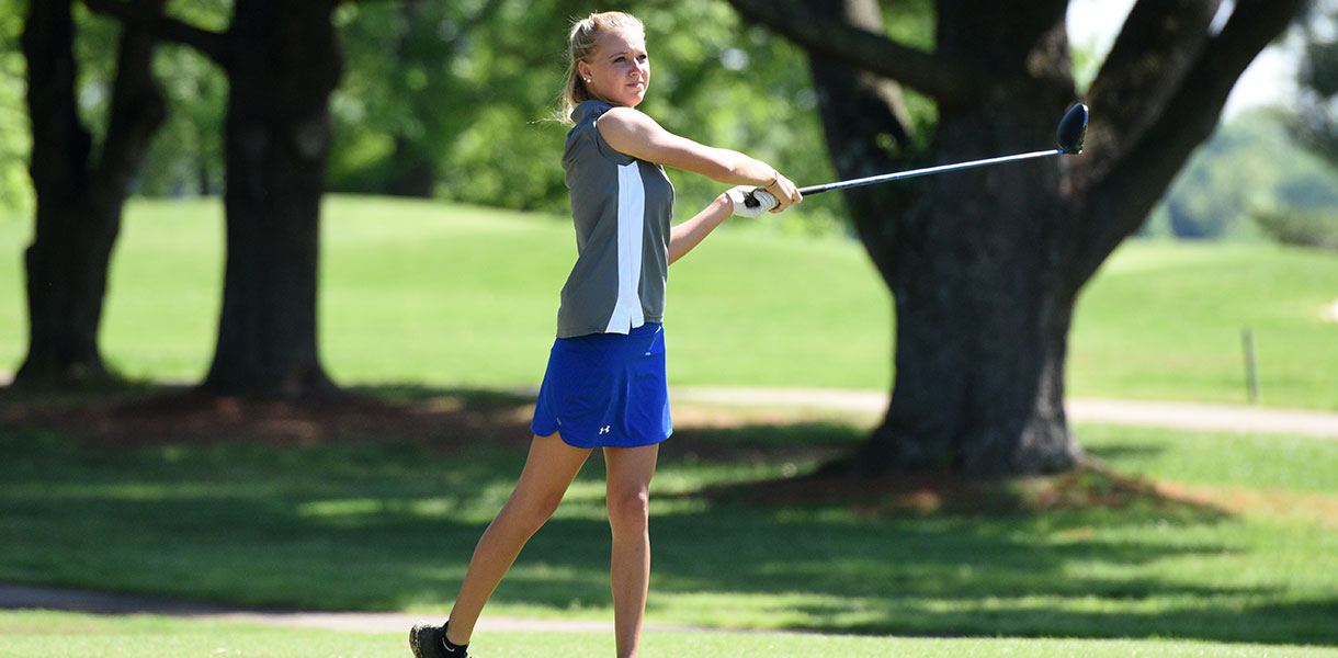 Photo for Women's Golf holds in fourth place following second round of play at MSC Championship Tournament