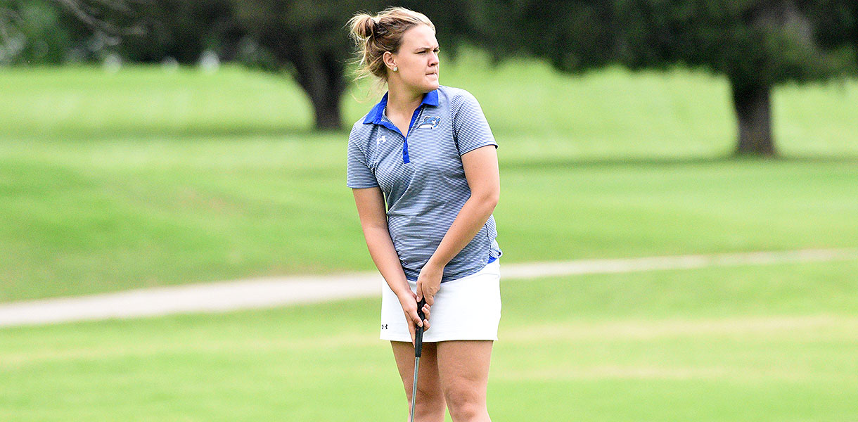 Photo for Women's Golf sits in fourth after opening round of MSC Championship Tournament