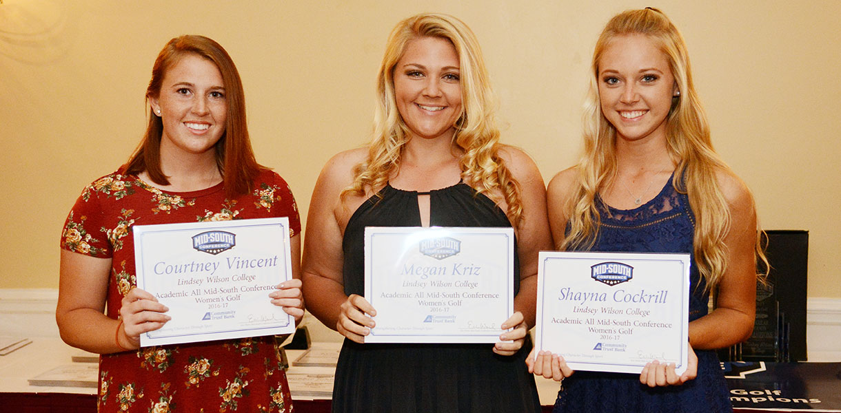 Photo for Three Blue Raiders receive Women's Golf Academic All-MSC honors
