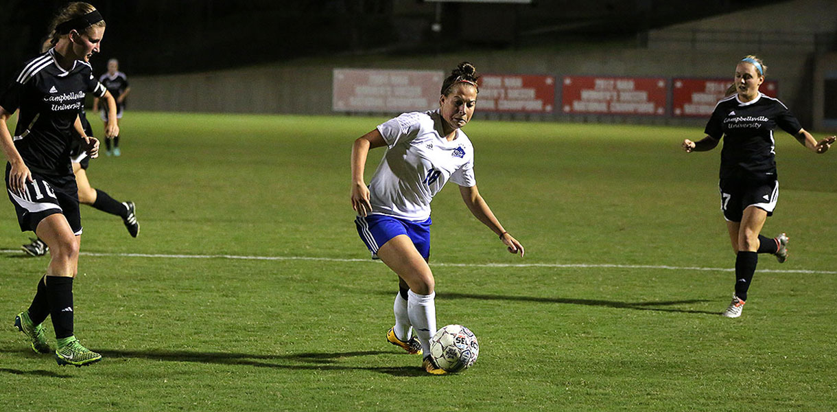 Photo for Late flourish carries No. 6 women�s soccer past No. 22 Campbellsville, 2-0