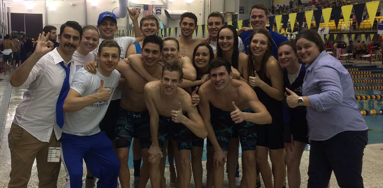 Photo for Mueller earns first NAIA Swimming All-American honor in program history; Blue Raiders finish eighth at National Championships