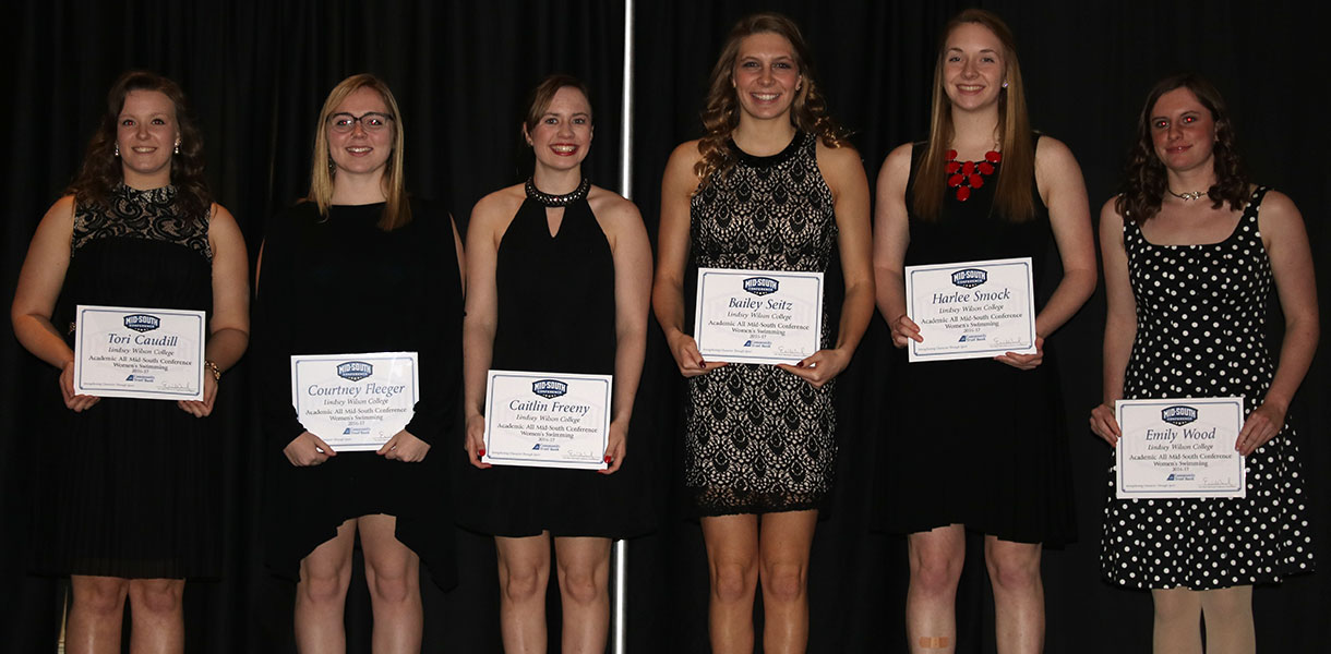 Photo for Women's Swimming boasts eight Academic All-MSC honorees
