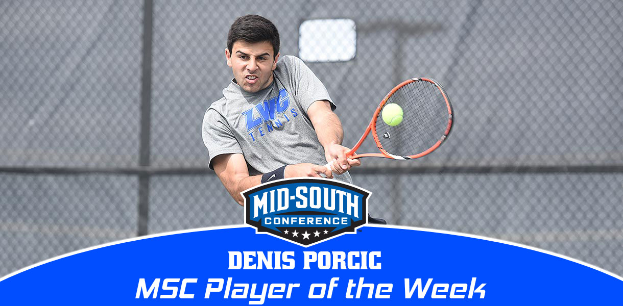 Photo for Denis Porcic earns MSC Men's Tennis Player of the Week honors