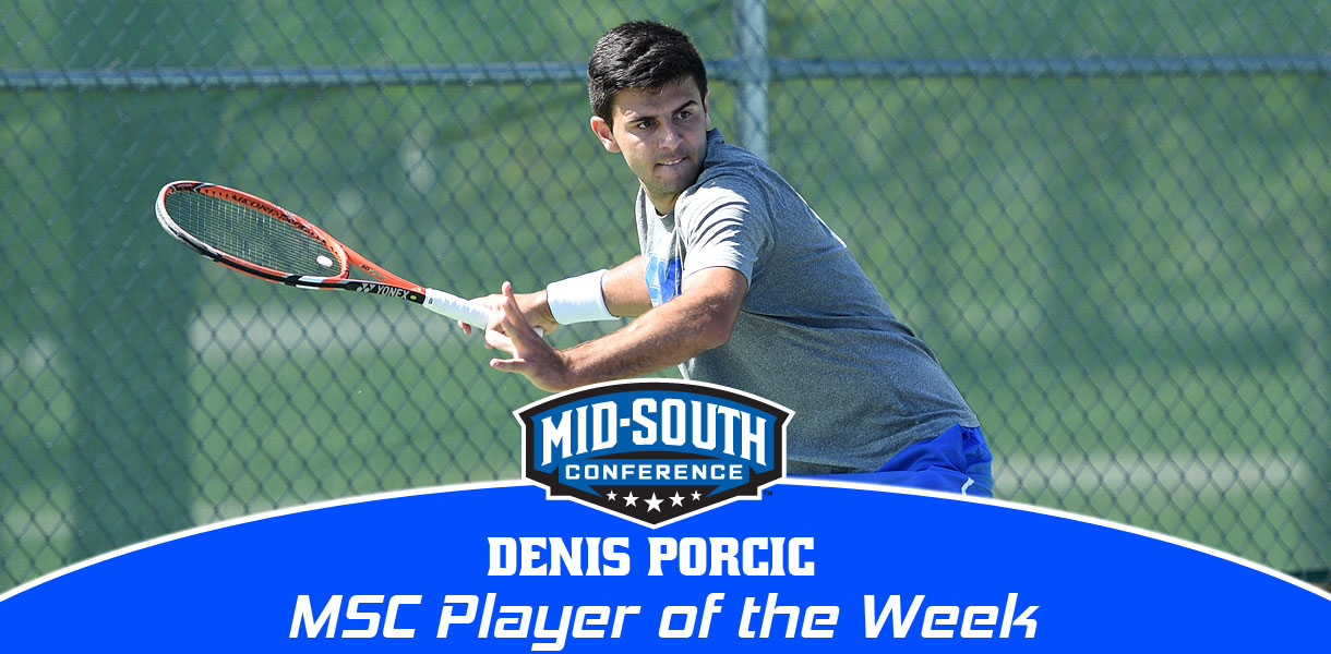 Photo for Porcic repeats as MSC Men's Tennis Player of the Week